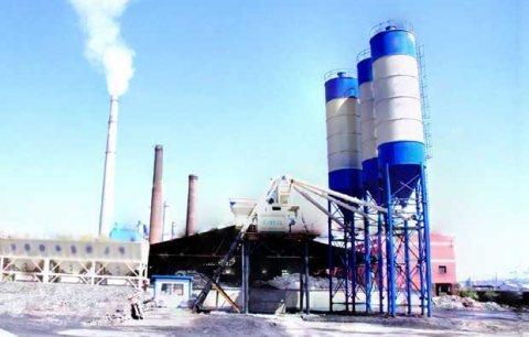 محطة خلط الخرسانة HZS75,مصنع خلط الخرسانة 75 م3/ساعة
