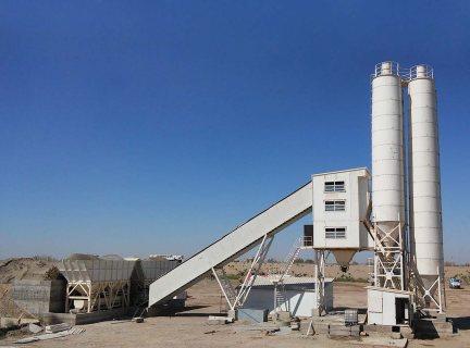 محطة خطة الخرسانة HSZ35,مصنع خلط الخرسانة 35 م3/ساعة