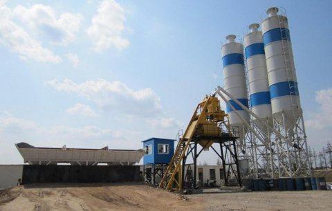 محطة خلط الخرسانة HZS25,مصنع خلط الخرسانة 25 م3/ساعة