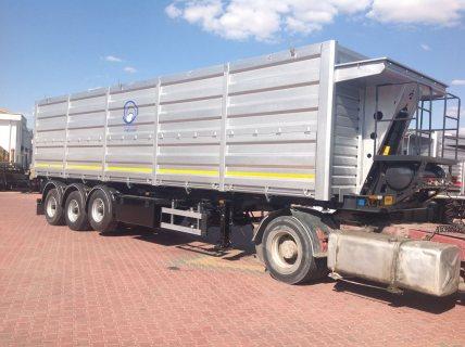 العربات نصف المقطورة شاحنة نقل الحبوب