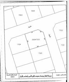 للبيع ارض سكنية في منطقة القرية مخطط التسهيلات