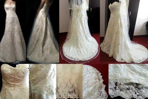 فستان عرس ايفوري على يد مصمم عالمي